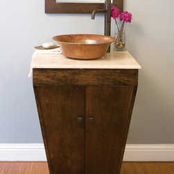 Native Trails Yanama Vanity in Antique - Handcrafted entirely of solid, Forest Stewardship Council certified cherry, Yanama is a handsome blend of sustainable wood and hammered copper. Coordinates beautifully with our Marble, Basalt, or Sedona copper vanity tops.