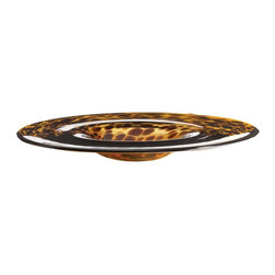 Lazy Susan - Lazy Susan 824012 Tortoise Bowl - A cross between a bowl and a platter, this glossy tortoiseshell bowl will add instant interest to your coffee table.