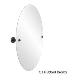Allied Brass - Dottingham Collection Unframed Oval Bathroom Tilt Wall Mirror - Simplicity defines this elegantly designed mirror from Allied Brass. A perfect complement for the halloway,living room or bathroom,an eclectic yet delicate flare balances any style furnishing from contemporary to traditional.