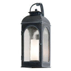 """Troy Lighting - Troy Lighting B3282 Derby 1 Light 23"""" Outdoor Wall Sconce with Seedy Glass - Troy Lighting B3282 Derby 1 Light 23"""" High Outdoor Wall SconceWith a faux candle interior diffuser and antique style frame, the lights of the Derby Collection look like they might be found at a coach stop in England.Troy Lighting B3282 Features:"""
