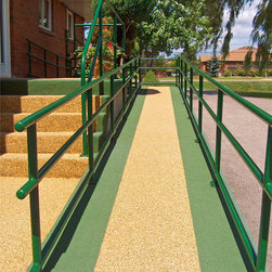 Entrance Steps, Stairs & Ramps by Rubaroc Rubber Safety Surfacing - Photograph by & the property of Rubaroc International Inc.