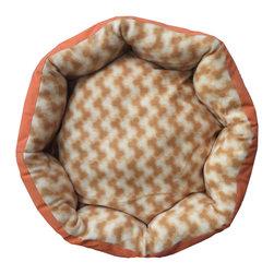 Four Seasons - Orange Pet Bed 20x20 Dog Bones Puppy Floor Pillow - Features: