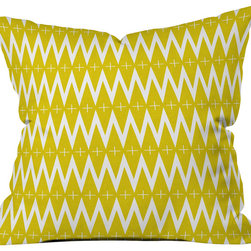 DENY Designs - Holli Zollinger Diamond Plus Outdoor Throw Pillow - Do you hear that noise? it's your outdoor area begging for a facelift and what better way to turn up the chic than with our outdoor throw pillow collection? Made from water and mildew proof woven polyester, our indoor/outdoor throw pillow is the perfect way to add some vibrance and character to your boring outdoor furniture while giving the rain a run for its money. Custom printed in the USA for every order.