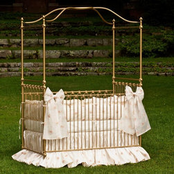 Corsican - Corsican Iron Canopy Crib - 42924-101 - Shop for Cribs from Hayneedle.com! The Corsican Iron Canopy Crib is a beautiful piece of furniture to anchor your baby's nursery. This majestic crib is made of hand-forged wrought iron and is available in several finishes to match the nursery's color scheme. The narrow rounded slats are accented on the headboard footboard and side rails. The soaring posters and canopy rail create a sense of private space for your little one. For his safety the side rails are stationary. For your convenience the mattress height is fully adjustable. Like all Corsican cribs it is custom made by craftsmen dedicated to quality and beauty. Fits a standard size crib mattress (not included). Note: This item can only be shipped within the 48 contiguous states. JPMA certified (requirements developed and published by ASTM International). About CorsicanWith a commitment to quality and attention to detail Corsican has been manufacturing iron furniture and accessories for more than 40 years. Their skilled craftsmen uphold a tradition of handcrafted beauty personal care and attention to detail.