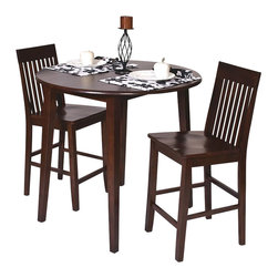 Office Star - Office Star Westbrook Pub Table in Amaretto Finish - Office Star - Pub Tables - WB432
