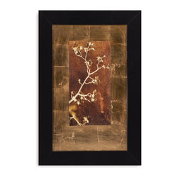 Bassett Mirror - Bassett Mirror Framed Under Glass Art, Gold Leaf Branches I - Gold Leaf Branches I