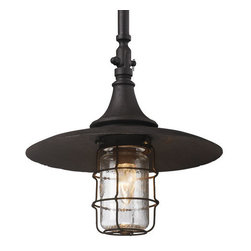 "Troy Lighting - Troy Lighting F3228 Allegheny 1 Light 21"" Dark Sky Outdoor Pendant - Troy Lighting F3228 Allegheny 1 Light 20.5"" High Dark Sky Outdoor PendantThe Allegheny Collection of exterior fixtures feature an industrial style and sturdy craftsmanship.Troy Lighting F3228 Features:"