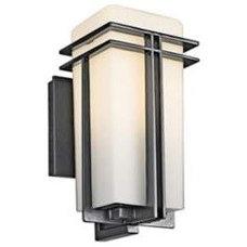 Black, Contemporary, Wall Light Outdoor Lighting By LampsPlus.com