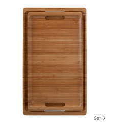 Bamboo Serving Tray Nesting Set