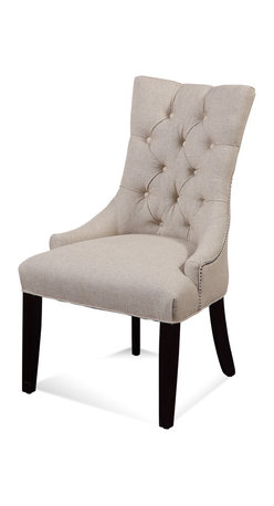 Bassett Mirror - Bassett Mirror Fortnum Nailhead Parsons Chair (Set of 2) - FortnumTufted Nailhead Parsons Chair, Set of 2