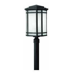 Hinkley - Hinkley Cherry Creek One Light Vintage Black Post Light - 1271VK - This One Light Post Light is part of the Cherry Creek Collection and has a Vintage Black Finish. It is Outdoor Capable, and Wet Rated.
