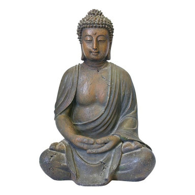 Alpine - Buddha Statue Decoration - Our stunning adn serene Buddha items are hand crafted of durable resin construction. With its antique-look, intricate details and portrayal of Buddha in meditative state, they bring peace and tranquility to any environment.Features: