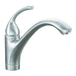KOHLER - KOHLER K-10415-G Forte Single-Control Kitchen Sink Faucet with Lever Handle - KOHLER K-10415-G Forte Single-Control Kitchen Sink Faucet with Lever Handle in Brushed Chrome