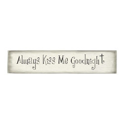 Stencil Ease - Always Kiss Me Goodnight Stencil - Always Kiss Me Goodnight - Girls are Weird style lettering. Letter heights are based on ascenders and descenders (extend above mid-line and below baseline).