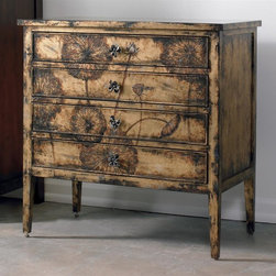 Hooker Furniture - 33 in. Cache Chest - Four drawers. Leg height: 10.75 in.. 33 in. W x 18 in. D x 33 in. H