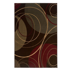 """Oriental Weavers - Contemporary Amelia 5'x7'6"""" Rectangle Brown-Red Area Rug - The Amelia area rug Collection offers an affordable assortment of Contemporary stylings. Amelia features a blend of natural Brown-Red color. Machine Made of Polypropylene the Amelia Collection is an intriguing compliment to any decor."""