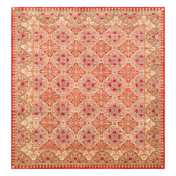 Rugsville - Rugsville  Kazak Ivory Wool 16513-666 6X6.6Rug - Our Super Kazak collection carries some of the finest pieces weaved in the Orient! These Kazaks are a modern shape