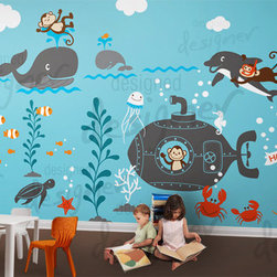 Children Wall Decal Wall Sticker Kids Decal by Designed Designer - Murals can be really expensive to paint. Try a wall decal mural for an extra big space like a playroom or bonus room.
