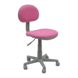 18510 Deluxe Task Chair Pink/Gray - Robert Hughes