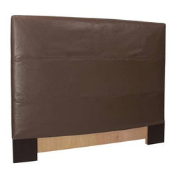 Howard Elliott Avanti Pecan Full/Queen Slipcovered Headboard - The Slip covered Headboard is constructed with a sturdy wood frame that is padded for maximum comfort, making it solid yet cozy. This piece features a pecan faux leather cover.