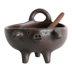 Solay Wellness dba So Well - So Gourmet Pomaireware Clay Salt Pig - An adorable way to keep your salt or favorite spices handy. Fair Trade and Handmade, our Salt Pig makes a great addition to any dinner table or to have around for a convenient grab of salt while cooking.