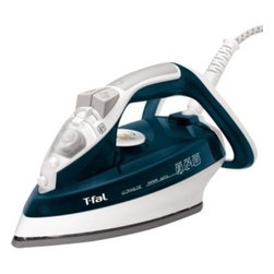 None - T-fal FV4476 Ultraglide Clothes Iron - Easily remove the wrinkles from your clothes with this Tefal ultraglide iron. This iron features 64 steam holes for pressing out tough wrinkles,an extended heel for storing the cord safely when not in use,and a three-way auto-off for optimal safety.