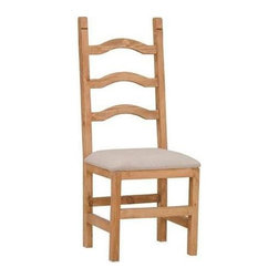 Million Dollar Rustic - Classic Padded Seat Chair - Ladder back side chair. Warranty: One year. Made from white pine. 18 in. W x 18 in. D x 47 in. H (14 lbs.)