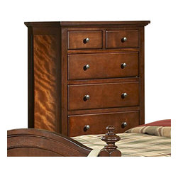 Homelegance - Homelegance Aris 35 Inch Chest in Brown Cherry - Classic in design and bold in style, the youth version of our popular Aris collection adds warmth and character to your child's bedroom. Bun feet serve to support the simple yet elegantly designed case pieces, while the warm brown cherry finish on select hardwoods and veneers completes the overall look. Student desk with hutch and coordinating chair are also available.