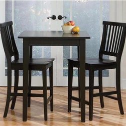 Home Styles - Home Styles Arts & Crafts 3 Piece Counter /Pub Table Set - Ebony Multicolor - 51 - Shop for Dining Sets from Hayneedle.com! Give a smaller kitchen or dining area some big style with Home Styles Arts & Crafts 3 pc. Counter /Pub Table Set - Ebony. Crafted of solid hardwood this dining set includes a tall square table and two armless stools. It's perfect for casual dining or reading the paper over your morning coffee. Each piece features a rich multi-step ebony finish and a relaxed classic style that complements a wide variety of decor. The stools boast slat backs foot rests and comfortable contoured seats. This set fits neatly into a breakfast nook or accents other rooms without taking up much space. About Home StylesHome Styles is a manufacturer and distributor of RTA (ready to assemble) furniture perfectly suited to today's lifestyles. Blending attractive design with modern functionality their furniture collections span many styles from timeless traditional to cutting-edge contemporary. The great difference between Home Styles and many other RTA furniture manufacturers is that Home Styles pieces feature hardwood construction and quality hardware that stand up to years of use. When shopping for convenient durable items for the home look to Home Styles. You'll appreciate the value.