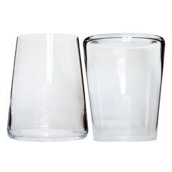 Martinka Crystalware & Lifestyle - Cocktail Tumblers, Colada (Set of 6) - This versatile 6 piece tumbler set is perfect for a variety of cocktails and occasions. Each tumbler exhibits a modern conical shape with a wide base that narrows towards the rim. Tumblers are handmade from ultra-light weight crystal and stack sideways. These elegant yet simple cocktail tumblers are perfect for entertaining or even for daily use.