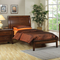 Coaster - Scottsdale Twin Platform Bed - The Scottsdale collection is offered in either a twin or a full chest bed which includes the wood rib support. This youth collection is offered in a rich deep walnut finish with bevelled wood fronts on all drawers accented with brushed brass hardware.