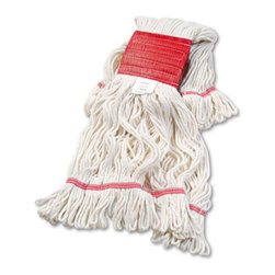 UNISAN - UNISAN Super Loop Wet Mop Head, Cotton/Synthetic, Large Size, White - Premium-quality, four-ply cotton/synthetic yarn mop head for high-volume use. Absorbs up to seven times its own weight. Heavy-duty, 5 vinyl headbands. Launder in mesh bag. Use with clamp- or spring grip-style handles (sold separately).