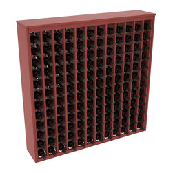 Wine Racks America - 144 Bottle Deluxe Wine Rack in Ponderosa Pine, Cherry Stain + Satin Finish - Store 12 full cases in this wine rack furniture style storage. This wood wine rack is designed to look like a freestanding wine cabinet. Solid top and side enclosures promote the cool and dark storage area necessary for aging your wine properly.