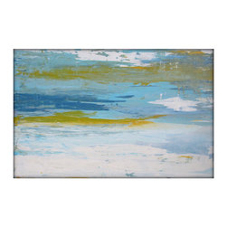 Abstract Seascape Original Painting on Canvas Contemporary/Modern Painting 24x36 - Original Abstract Minimalist Painting - Seascape, Landscape