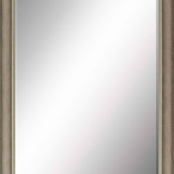 Paragon Decor - Beveled Mirror, Light Gray, 24x36 - Mirror, Mirror, on the wall, who's the most beautiful mirror of them all? Reflect your impeccable taste with this contemporary-style mirror, which features a gorgeous simple light gray frame and high-quality interior beveled mirror. This piece measures 27 inches wide, 2 inches deep, and 39 inches high.