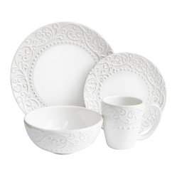 Bianca 16 Piece Dinnerware Set, White