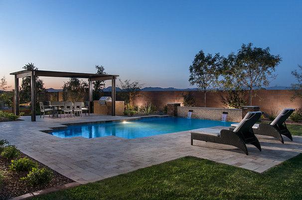Contemporary Pool by Maracay Homes Design Studio