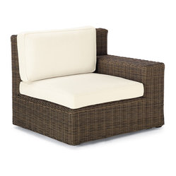 Hyde Park Right-facing Arm Chair with Cushions - Frontgate, Patio Furniture