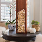 Brazilian Cherry Wine Frame Skinny - Every wine cork has a story—don't throw them away, display them with this gorgeous cherry display. Eco-friendly and sustainably harvested on the slopes and riverbanks of Brazil and the Caribbean, the finest cherry wood is chosen for rich grain and durability, then stained and sealed for lasting beauty.