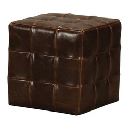 Sterling - Sterling 133-004 Leather Ottoman - Sterling 133-004 Leather Ottoman