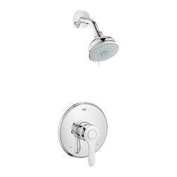 Grohe - Grohe 35039-EN0 Parkfield Series Shower Combination Trim - This Parkfield Shower Combination Trim (35039) Comes With The Following Components In A Beautiful, Brushed Nickel Finish: (19921) Trimset, (35015) Pressure Balancing Valve, (27610) Tempesta Authentic Shower Head, And (27 414) Shower Arm.