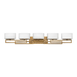 Hinkley Lighting - Hinkley Lighting 5105BR Lanza Transitional Bathroom / Vanity Light - Lanza makes a chic statement with its strong, rectangular metal work. This contemporary style features geometric detailing with a sophisticated, modern appeal.