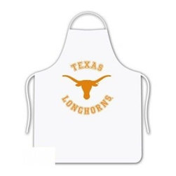 Sports Coverage - The University Of Texas Longhorns Tailgate Apron - Collegiate Texas University Longhorns White screen printed logo apron. Apron is 100% cotton twill with screenprinted logo. One Size fits all.