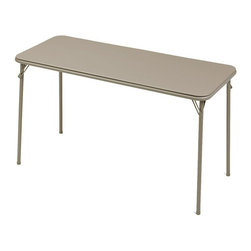 Meco - Meco N70 20x48 Folding Table - N70.25.441 - Shop for Folding Tables from Hayneedle.com! Prepping for a big pot luck lunch or backyard barbecue is easy at least when it comes to seating with the Meco N70 20x48 Folding Table. Its vinyl upholstered tabletop is easy to wipe clean and the sturdy tubular steel frame folds out quickly and locks in place with E-Z action leg locks. The top coordinates with the powder-coat metal finish of your choice chicory or cinnabar that resists scratches chips and abrasions. Leg caps on every leg protect your floors from scratches or abrasions too. Folds flat for easy slim-line storage. About MecoFor over 45 years Meco has created quality products used in homes across America. If you're looking for safe innovative electric grills you can trust Meco to deliver. Meco products use a standard 120-volt outlet and can be plugged in nearly anywhere. Perfect for condos apartments and much more Meco electric grills are a smart convenient choice. The company is based in Greenville Tenn. and continues to develop quality products for the home.