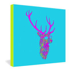 Robert Farkas Party Deer Gallery Wrapped Canvas