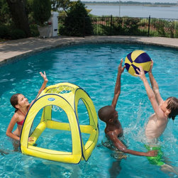 SwimWays - SwimWays Giant Spring Jam Basketball Pool Toy Multicolor - 12201 - Shop for Toys from Hayneedle.com! The competition will be heating up this summer with the SwimWays Giant Spring Jam Basketball Pool Toy. So bring your game from the court to the pool this durable polyester hoop inflates for some floating fun and even includes a ball and carrying bag. This aquatic game is sure to be a slam dunk with the kids on those sweltering summer days.About SwimWays Based in Virginia Beach Virginia SwimWays has one mission: make free time more fun through innovation. They provide your family with pool toys floats decorations games and even swim training gear to make sure you have no ordinary day at the pool. With over 35 000 storefronts and offices in Hong Kong and the United States SwimWays diverse staff is dedicated to bringing you the best. Safety is their priority helping to teach kids to swim for over 40 years with an innovative line of swim-training products. SwimWays is here to help and stands by their products every step of the way.