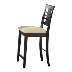 Hillsdale - Hillsdale Tiburon 24 Inch Non Swivel Counter Stool (Set of 2) - Hillsdale - Bar Stools - 4917806 - The Tiburon Non-Swivel Counter Stools by Hillsdale Furniture feature the ever popular espresso finish and neutral ivory fabric. with transitional balanced and precise lines they are sure to make a statement. All pieces of the Tiburon Collection feature neutral ivory fabric. Altogether this ensemble bridges the gap between traditional and contemporary design to become a perfect addition to your dining room kitchen or nook.