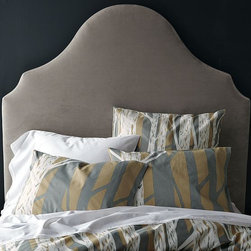 Scroll Headboard - I would love to create an upholstered headboard like the one pictured. The shape is lovely.