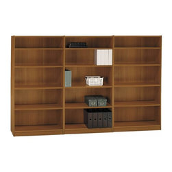 "Bush - Bush Universal 5 Shelf Wall Bookcase in Royal Oak - Bush - Bookcases - WL1244603PKG - Bush Universal 72""H 5 Shelf Wood Bookcase in Royal Oak"