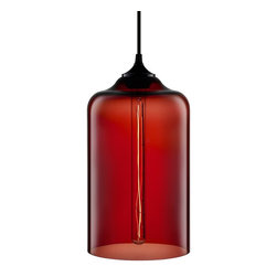 Niche Modern - Bella Modern Pendant - This slender goblet of glass emits a warm, romantic radiance. Hang it in your bedroom or let it bathe another favorite intimate setting with light.
